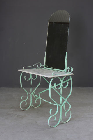french wrought iron washstand dressing table marble top