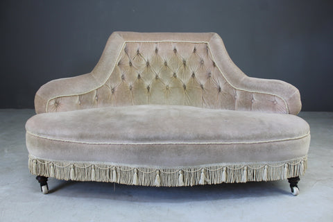 antique small button back sofa settee