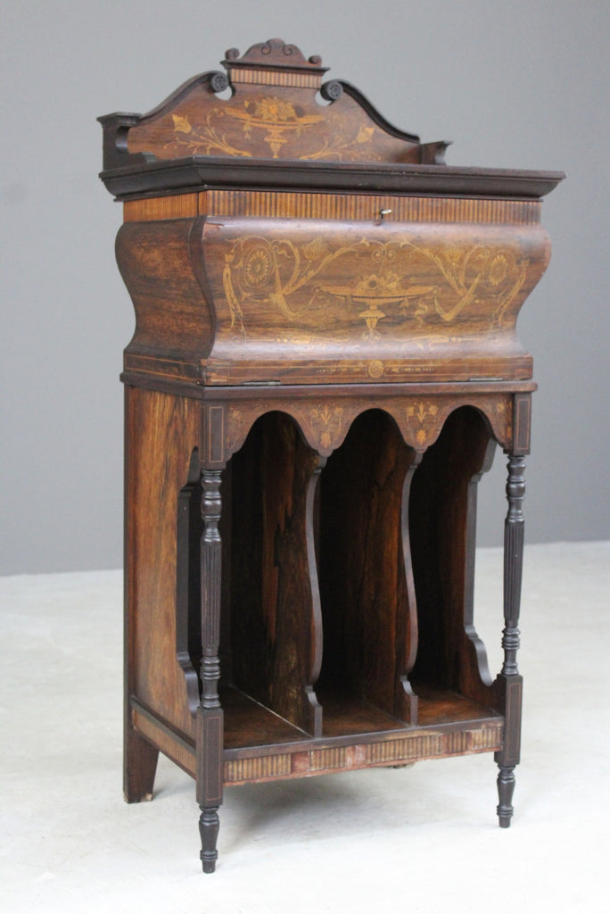 Edwardian Inlaid Rosewood Music Cabinet