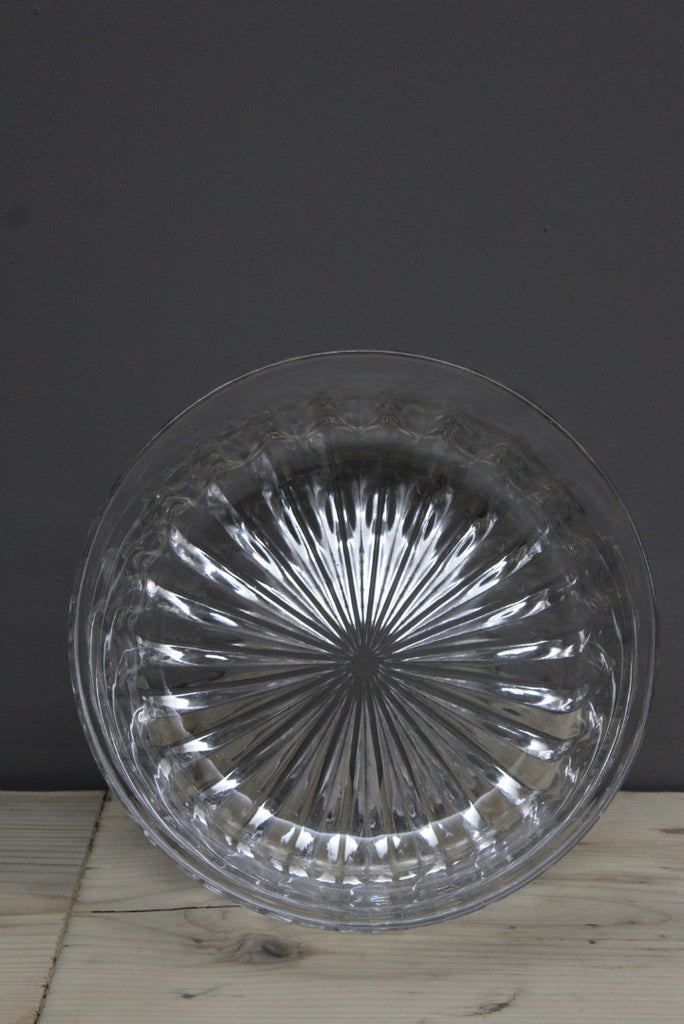Large Pressed Glass Serving Bowl