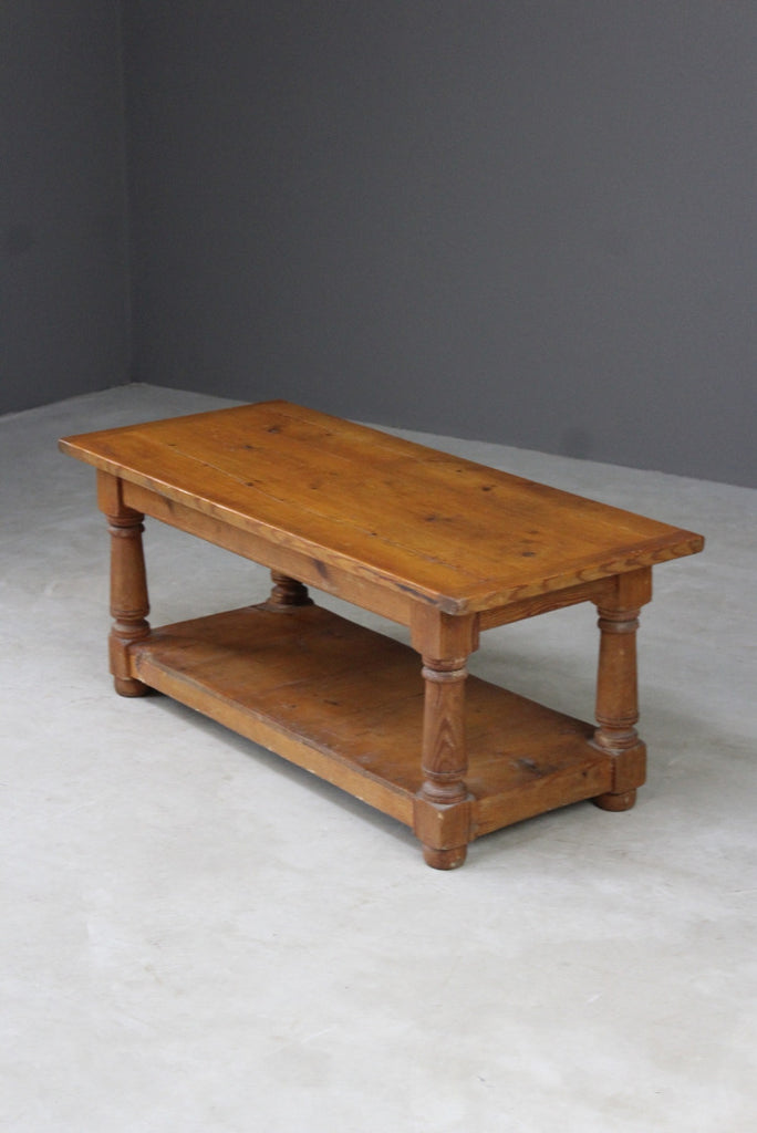 Rustic Pine Coffee Table - Kernow Furniture