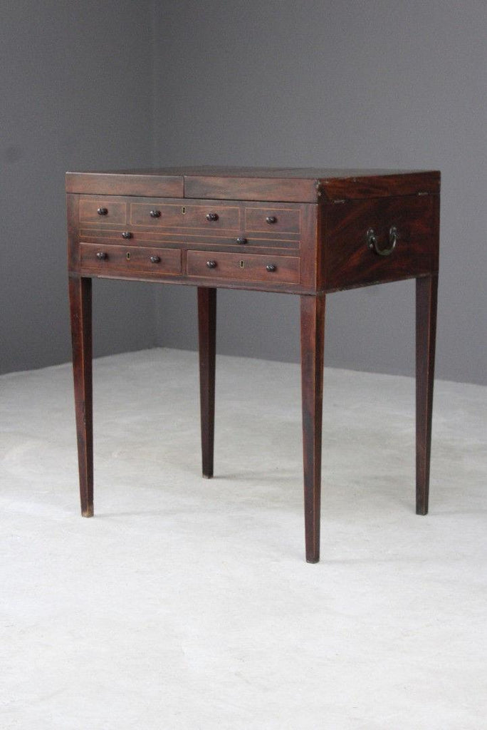 Georgian Mahogany Dressing Table - Kernow Furniture