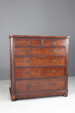 large mahogany antique chest of drawers