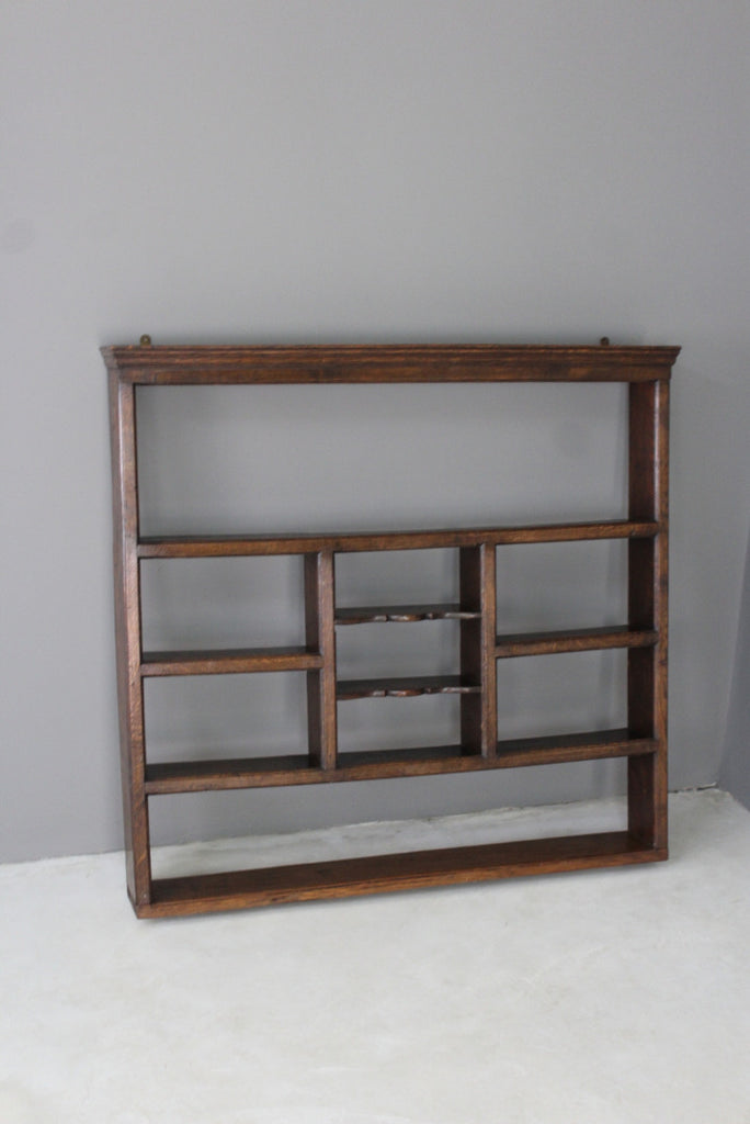 antique oak wall shelves plate rack