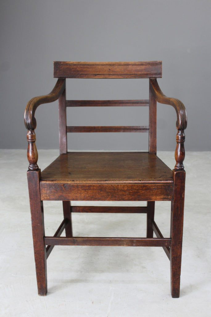 antique office study carver chair