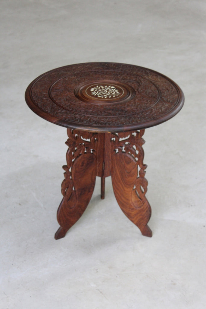 eastern carved side table