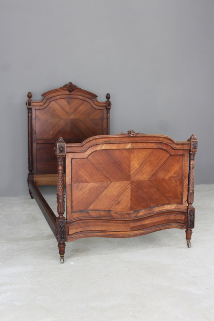 antique french rosewood walnut bed