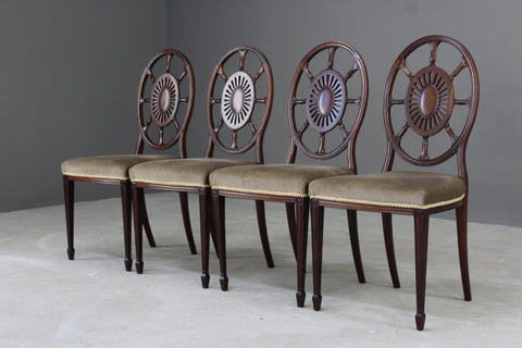 4 Antique Edwardian Dining Chairs