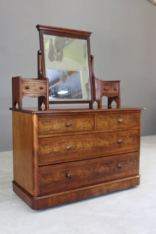Antique Victorian Mahogany Dressing Chest