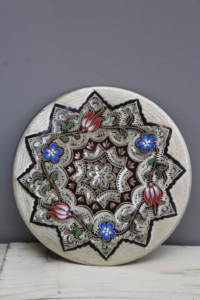 Turkish Enamelled Copper Wall Plate - Kernow Furniture