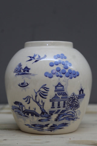 willow pottery pot