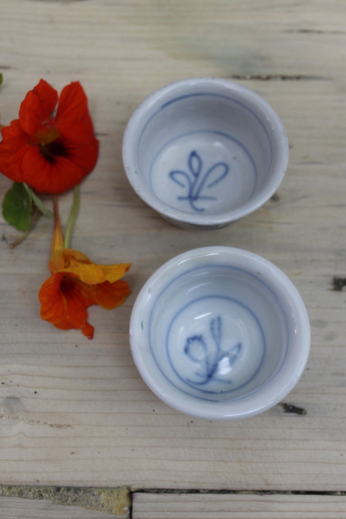 Oriental Blue & White Small Bowls