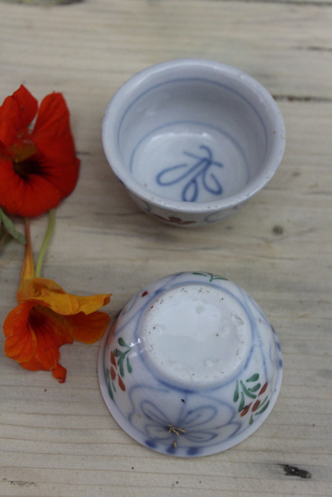 Oriental Blue & White Small Bowls - Kernow Furniture
