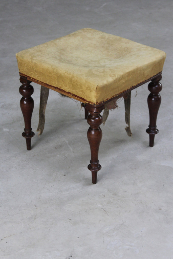 Antique Mahogany Stool Antiques