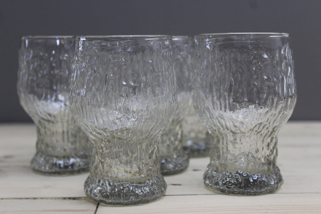 Set 6 Vintage Ravenhead Siesta Beer Glasses - Kernow Furniture