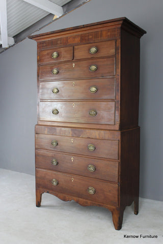 Antique Mahogany Chest on Chest - Kernow Furniture