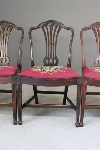 Set 6 Mahogany Chippendale Style Dining Chairs