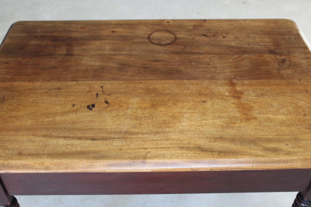 Antique Rustic Mahogany & Pine Small Table - Kernow Furniture