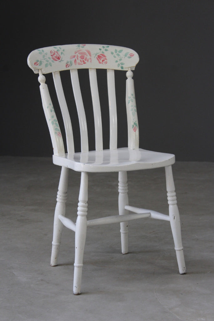Painted Lathe Back Kitchen Chair - Kernow Furniture