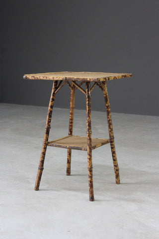 Vintage Bamboo Side Table - Kernow Furniture
