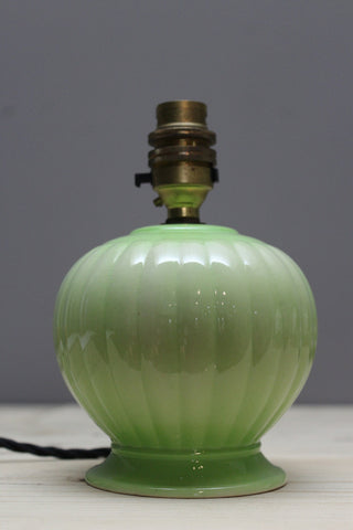 vintage small green lamp