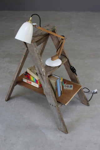 small pine step ladder steps