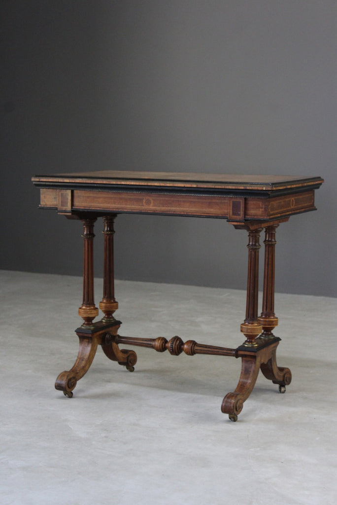 Antique Victorian Card Table - Kernow Furniture