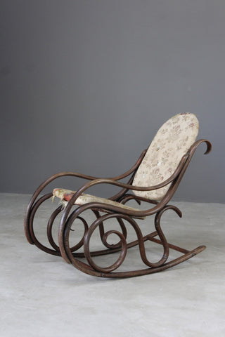 bentwood thonet style rocking chair