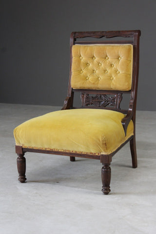 edwardian nursing chair yellow upholstery