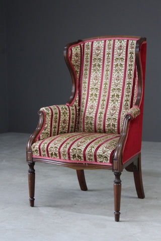 Edwardian Style Wing Back Chair - Kernow Furniture