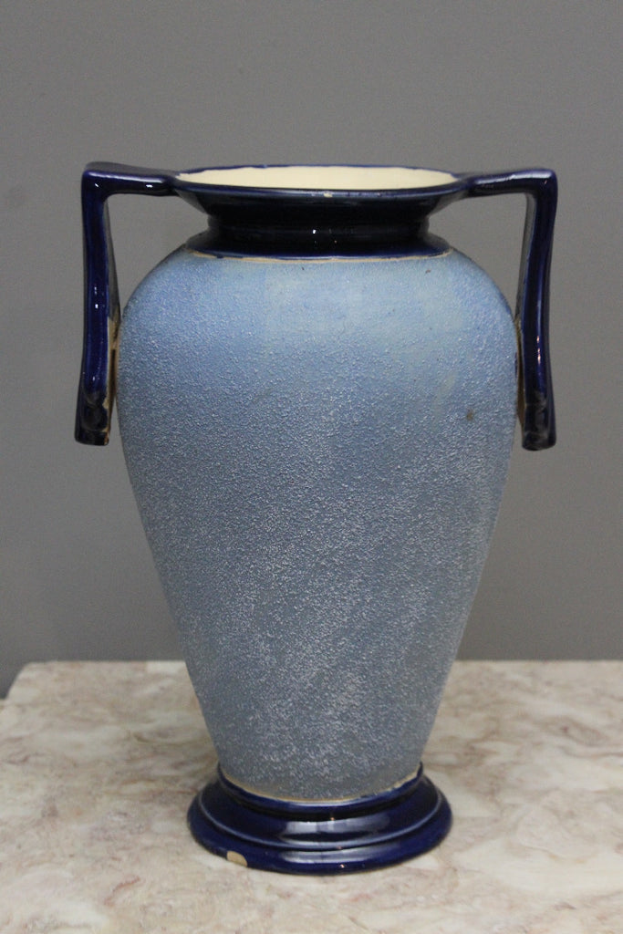 Large Art Deco Sand Glaze Vase - Kernow Furniture