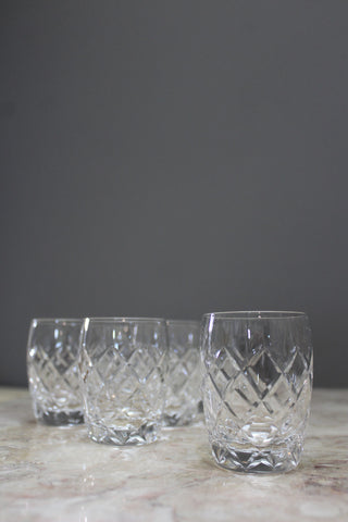 6 Small Cut Glass Tumblers