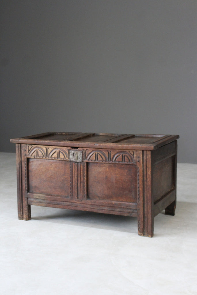 Antique 18th Century Oak Chest Coffer