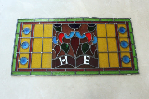 Antique Lead Glazed Window Pane