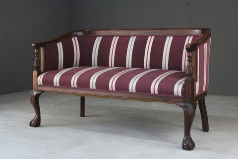 Antique Upholstered Small Sofa
