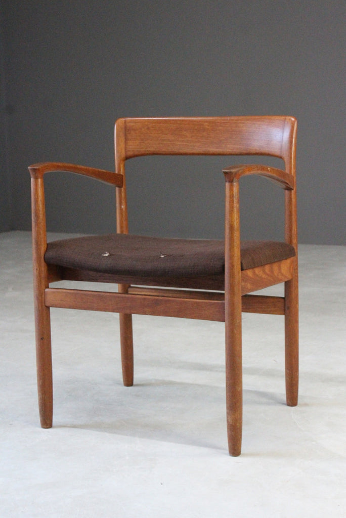 Single Teak Danish Carver Chair