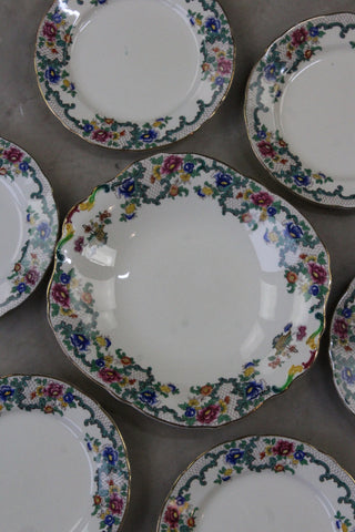 Royal Cauldon Victoria Dessert Set