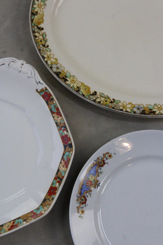 3 Vintage Serving Plates - Kernow Furniture