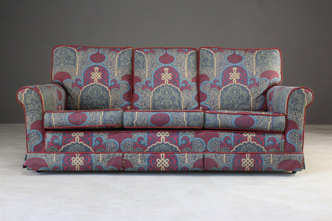 Three Seater Sofa In Ecclesiastical Fabric