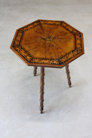 Antique Marquetry Side Table - Kernow Furniture