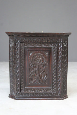 Oak Carved Wall Cabinet