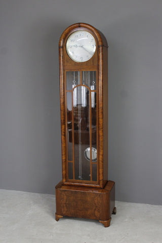 Art Deco 8 Day Walnut Longcase Clock