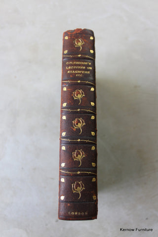 lectures & notes on shakespear antique leather book
