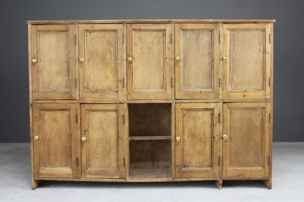 antique rustic pine pigeonholes cabinet cupboard kitchen
