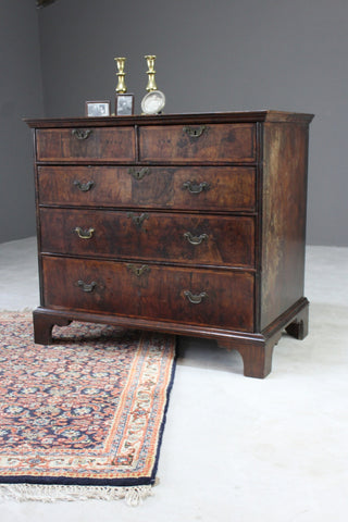 Antique Georgian Walnut Chest of Drawers - Kernow Furniture