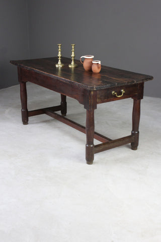 antique continental 18th century pine refectory kitchen table
