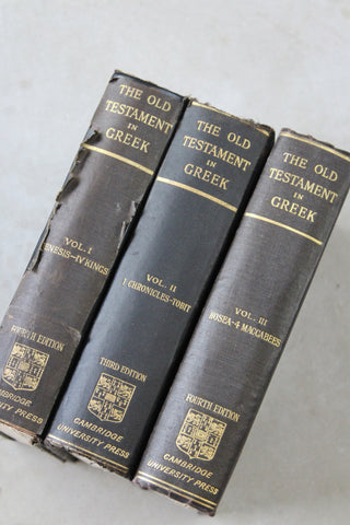 The Old Testament in Greek Vol I II III Cambridge University Press - Kernow Furniture