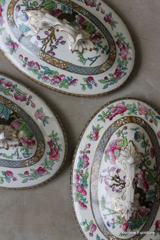 3 Indian Tree Tureen Lids
