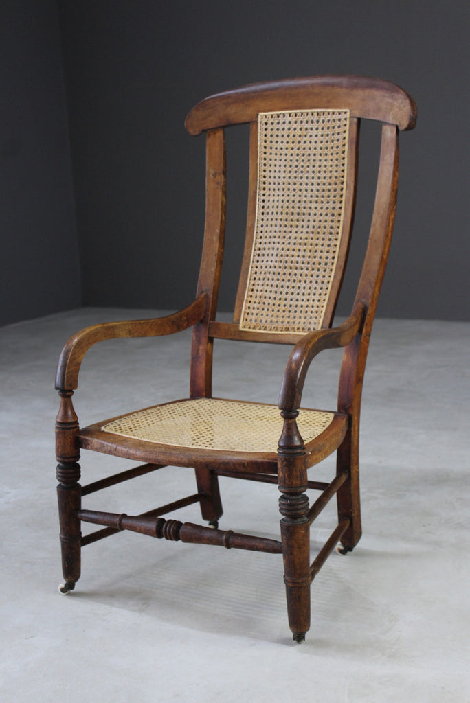 Edwardian Caned Armchair - Kernow Furniture