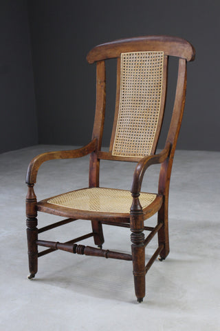 Edwardian Caned Armchair